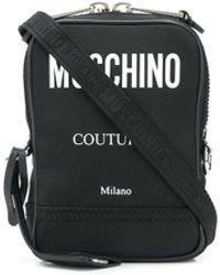 Moschino キャンバス メッセンジャーバッグ - ブラック
