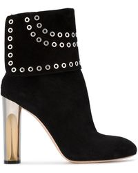 Alexander McQueen - Eyelet Embellished Boots - Lyst
