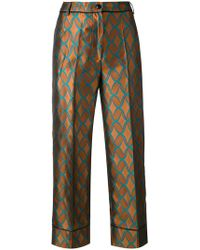 Jucca | Geometric Print Cropped Trousers | Lyst