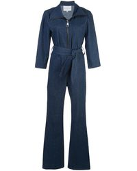 Carolina Ritzler Zip-up Denim Jumpsuit - Blue