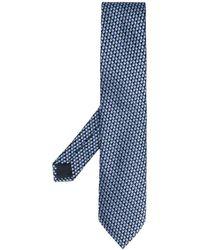 Ermenegildo Zegna Cravatta con effetto jacquard - Blu
