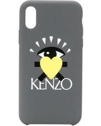 KENZO Iphone X Hoesje Met Print - Grijs