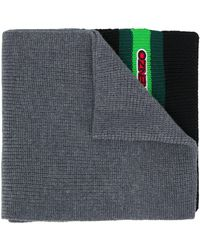 KENZO - Logo Patch Knitted Scarf - Lyst