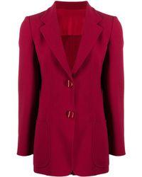 Giorgio Armani Single-breasted Jacket - Red