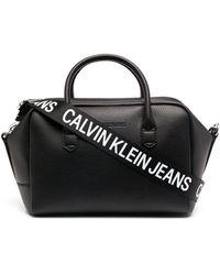 Calvin Klein Сумка-тоут С Логотипом На Ремне - Черный