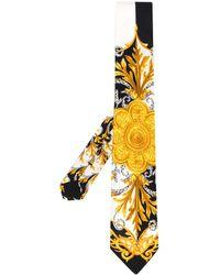 Versace Галстук С Принтом Acanthus - Черный