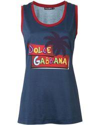 Dolce & Gabbana - プリント タンクトップ - Lyst
