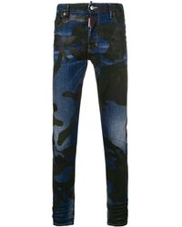 DSquared² Camouflage Skater Jeans - Blauw