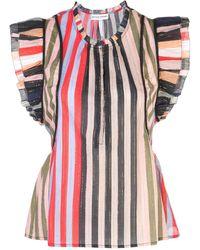 Apiece Apart Blusa sin mangas con volantes - Multicolor