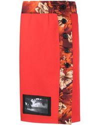 Kwaidan Editions Falda midi con contraste - Rojo