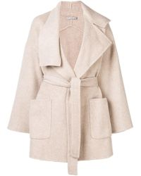 Vince - Belted Short Coat - Lyst
