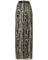 Alberta Ferretti - Floral Pleated Maxi Skirt - Lyst