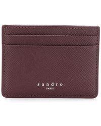 Sandro Porte-cartes classique - Rouge
