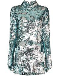 Halpern - Robe courte brodée de sequins - Lyst