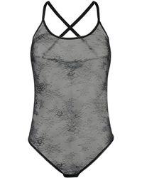 Off-White c/o Virgil Abloh Sheer Lace Bodysuit - Black