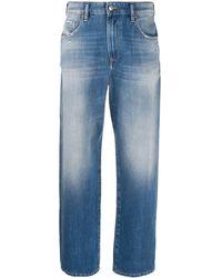 DIESEL D-Reggy High-rise Cropped Jeans - Blue