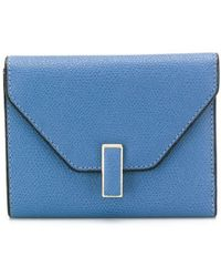 Valextra Trifold Wallet - Blue