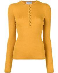 Gabriela Hearst Button-through Ribbed Top - Yellow