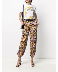 Versace Jeans Couture Versailles プリント トラックパンツ - ブラック