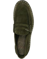 Premiata Contrast-stitching Suede Loafers - Green