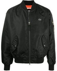 Lacoste L!ive Logo Bomber Jacket - Black