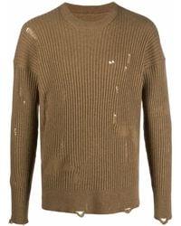 Uma Wang Distressed Knit Cashmere Jumper - Yellow