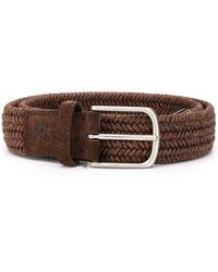 Canali Woven Design Belt - Brown