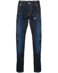 Les Hommes - Distressed Slim-fit Jeans - Lyst