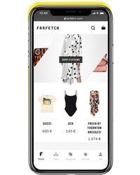 Heron Preston Funda para iPhone XS con logo estampado - Amarillo
