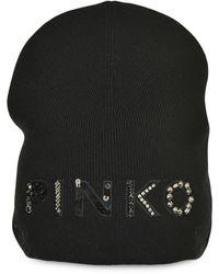 Pinko ロゴ ビーニー - ブラック
