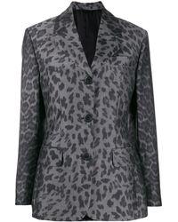 Prada Leopard-print Jacket - Green