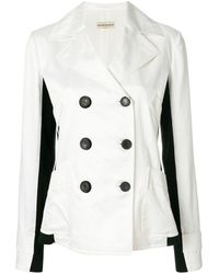 Giorgio Armani Pre-Owned Side panels double-breasted jacket - Multicolore