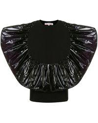 Walter Van Beirendonck Alien Ruffled T-shirt - Black