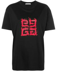 Givenchy - 4g Flame T-shirt - Lyst