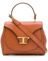 Tod's Small T Monogram Tote Bag - Brown