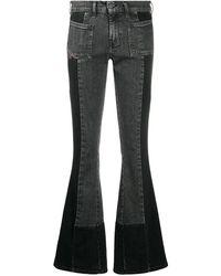 DIESEL D-ebbey Bootcut Jeans - Black