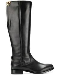 Fabi Knee High Boots - Black