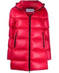 Calvin Klein ロゴ キルティングジャケット - レッド