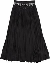 Christopher Kane Beaded Pleated Skirt - ブラック