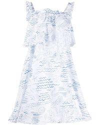 KENZO - Wave Mermaid ラッフル ドレス - Lyst