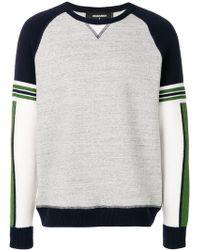 DSquared² - Two-tone Logo Sweatshirt - Lyst