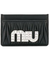 Miu Miu カードケース - ブラック