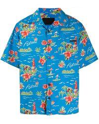 Prada Hawaiiaans Overhemd - Blauw