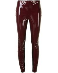 Karl Lagerfeld Patent Finish leggings - Red