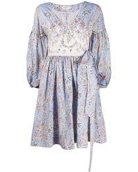 Liberty フローラル ドレス - ブルー