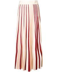 Moncler ストライプ プリーツスカート - マルチカラー