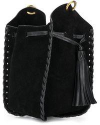 Isabel Marant Radja Woven-leather Bucket Bag - Black