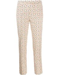 Akris Punto Patterned Pants - Natural