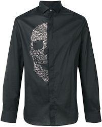 Philipp Plein - Embellished Skull Shirt - Lyst
