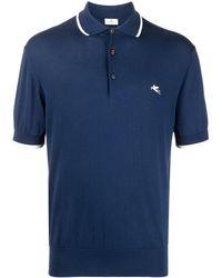 Etro ロゴ ポロシャツ - ブルー